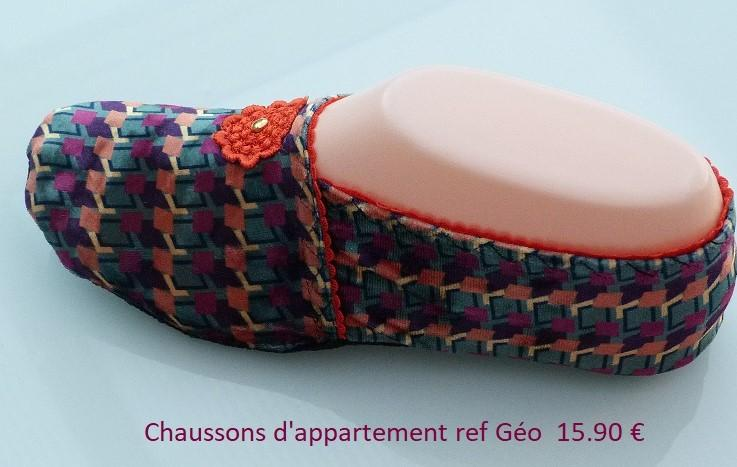 Chaussons d appartement extra plat ref geo 15 90 2